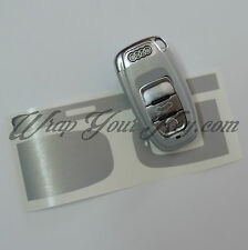 Brushed Aluminium Key Wrap Cover Audi SMART A1 A3 A4 A5 A6 A8 TT Q3 5 Q7
