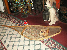 Vintage Wood & Rope Material Snow Shoe-Large Snowshoe-Home Decor-Lovely Details
