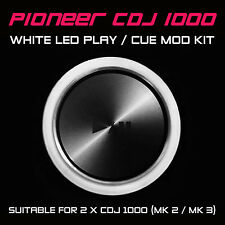 PIONEER CDJ 1000 MK2 / MK3 WHITE PLAY or CUE LED MOD KIT (FOR 2 x CDJS) DJM DDJ