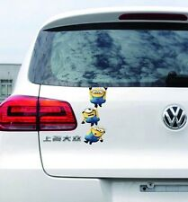 Sticker Stylish 3D Car Decal Graphics Sticker - MINIONS - Hanging Gang