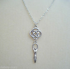 Celtic Knot Earth Mother Goddess Charm Pendant Necklace -  Pagan Wicca