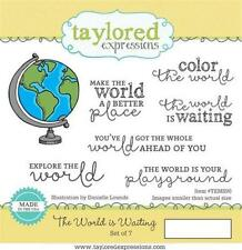 TAYLORED EXPRESSIONS  THE WORLD IS WATING  RUBBER STAMPS  (SET OF 7) TEMS90  NIP