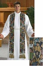 Children of the World Tapestry Clergy Stole (LS327) NEW