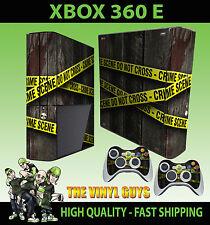 XBOX 360 E CRIME SCENE POLICE TAPE HAND PRINT STICKER SKIN & 2 PAD SKIN