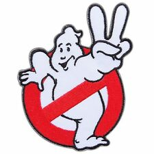 """Ghostbusters movie 2 II No Ghosts Embroidered Iron On / Sew On Patch 3.5""""X3.8"""""""