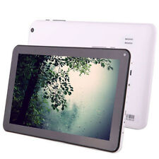 "White iRULU 9""Android 4.4 Kitkat 16G Tablet PC Bluetooth Wifi Quad Core Dual Cam"