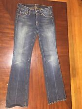 7 For All Mankind Women's Straight Leg Flared Denim Jeans Size 25