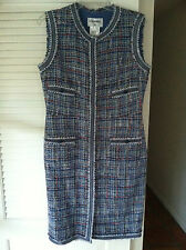 Chanel 09P Fantasy Ribbon Tweed Dress  Classic 4 Pocket  Gorgeous!  Size: 42