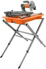 7 In Job Site Wet Tile Saw With Stand Diamond Blade Ceramic Stone Cutter NEW