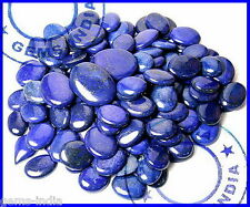 NATURAL 7000 CTS/123 PCS WHOLESALE LOT RARE GOLD FLECKS ROYAL BLUE LAPIS LAZULI