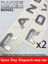 Range Rover Silver Letter Badge Lettering Front Hood Rear Boot Emblem Vogue Spor