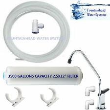 UNDER SINK WATER FILTER SYSTEM 3500 GALLON CAPACITY EASY INSTALLATION ALL PARTS