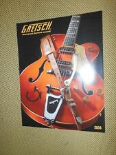NOS GRETSCH GUITARS 2004 BROCHURE CATALOG WHITE FALCON 6120