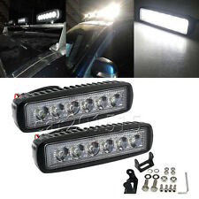 2x 6inch 18W Spot LED Work Light Car Truck Boat Driving Fog Offroad SUV 4WD Bar
