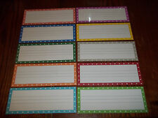 10 Laminated Dry Erase Writing Practice Name Plate Cards.  Daycare supplies.