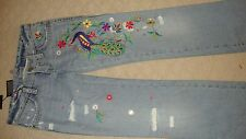STYLISH, BRAND NEW $1,125 DSQUARED2 DISTRESSED EMBROIDERED JEANS (NWT)