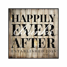 Family Name Sign Happily Ever After
