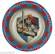 KNIGHTS AND DRAGONS MEDIEVAL BIRTHDAY PARTY 6 X PAPER PLATES TABLEWARE PARTYWARE