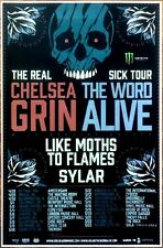 CHELSEA GRIN | THE WORD ALIVE The Real Sick Tour 2015 Ltd Ed RARE New Poster