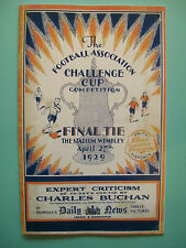 1929 FA Cup final programme,Ticket & free teamsheet Bolton W. v Portsmouth.