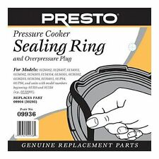 Presto 09936 Pressure Cooker Sealing Ring Gasket 2 Year Warranty Genuine