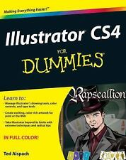 ILLUSTRATOR CS4 FOR DUMMIES by Ted Alspach in Full Color NEW