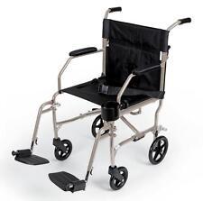 Medline Ultra Light Weight Transport Chair Wheelchair Aluminum - Weighs 15 lbs