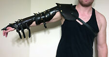 Handmade Leather Shoulder and Full Arm Armor - Free Shipping