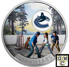 2017 $10 FINE SILVER COIN PASSION TO PLAY: VANCOUVER CANUCKS® 1/2oz. (NT)(17852)
