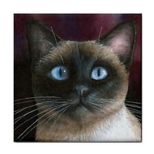 Large Ceramic Tile Coaster 6x6 inches Made in USA Siamese Cat 548 Art L.Dumas