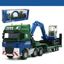 1/50 Scale kaidiwei KDW Low Loader with Excavator Truck Metal Diecast QW