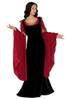 LADIES MEDIEVAL PRINCESS COSTUME DELUXE FANCY DRESS THRONES OUTFIT NEW 14-16-18