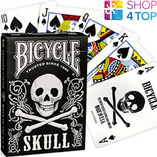 BICYCLE SKULL PLAYING CARDS DECK MAGIC TRICKS CLASSIC DESIGN JOLLY ROGER USPCC