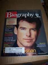 BIOGRAPHY MAGAZINE PIERCE BROSNAN ASHELY JUDD GEORGE CLOONEY BILLY CRYSTAL 2002