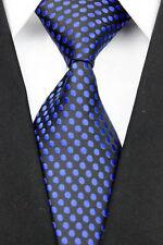 Tejida Jacquard de Hombre Corbatas De Seda Azul