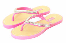 New Ladies Womens Slip On Jelly Diamante Summer Toe Post Sandal Flip Flops Size