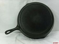 Vintage Lodge Cast Iron  Skillet No.10 ~ 3 Notches ~ Heat Ring