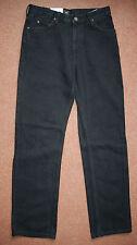 NEW Lee Brooklyn Black Straight 31x32(33) Stone Wash Jeans Black Stitch Trousers