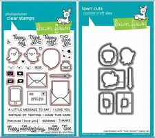 Lawn Fawn Photopolymer Clear Stamp & Die Combo ~ LOVE LETTERS ~LF1292,1293