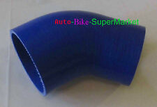 """BLUE 2.5"""" - 3"""" INCH 45° DEGREE 63 - 76 mm TURBO SILICONE ELBOW COUPLER HOSE"""