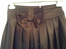 Pre-Loved 100% auth Lipsy Black Satin Elegant skirt With Bow. 10