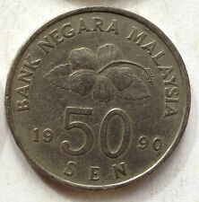 Second Series 50 sen coin 1990