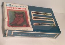 "Vintage Spinnerin Decor Magic 14"" X 16"" Sleepy time Owl Latch Hook Kit No. 9212"