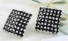 FABULOUS BLACK SWAROVSKI ELEMENT  EARRINGS-IN GIFT POUCH E66