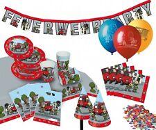 """Partykoffer """"Feuerwehr"""" - 60-teilig - Partyset Kindergeburtstag"""