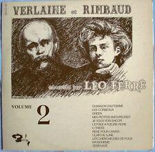 """LÉO FERRÉ - LP """"VERLAINE ET RIMBAUD"""" - VOLUME 2"""