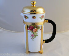 Royal  Albert  Old  Country  Roses  Cafetiere  ( Coffee Pot )  RARE