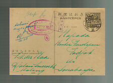 1943 Soerabaja Netherlands Indies Censored Postcard Cover Japan Occupation