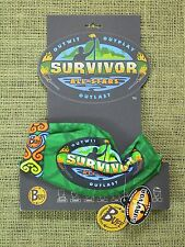 Original 2004 Survivor Season 8 All-Stars Green Buff & Logo Card (Not Reissue!)