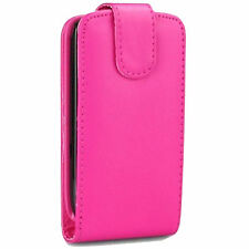 PU LEATHER PINK FLIP CASE POUCH COVER FOR NOKIA C5-03 MOBILE PHONE